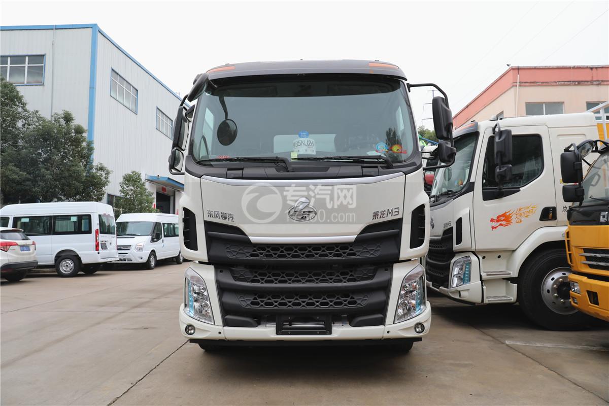 東風柳汽乘龍M3國五6.58米易燃氣體廂式運輸車車前圖