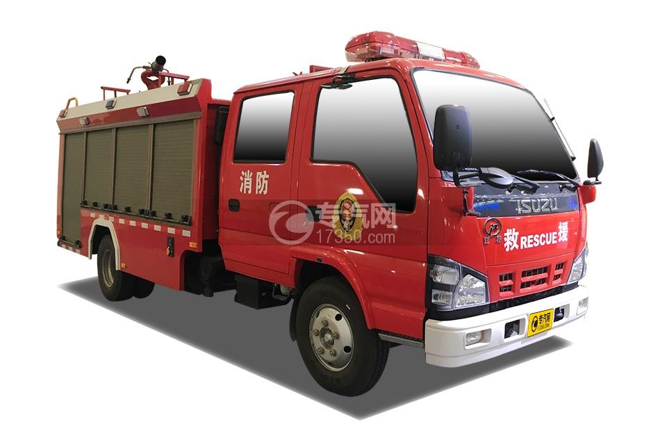 庆铃五十铃双排4K泡沫消防车