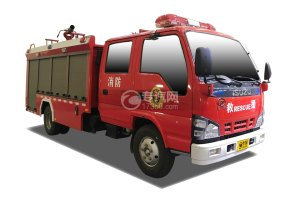 慶鈴五十鈴雙排4K泡沫消防車