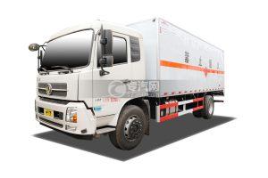 东风天锦国五6.2米易燃气体厢式运输车