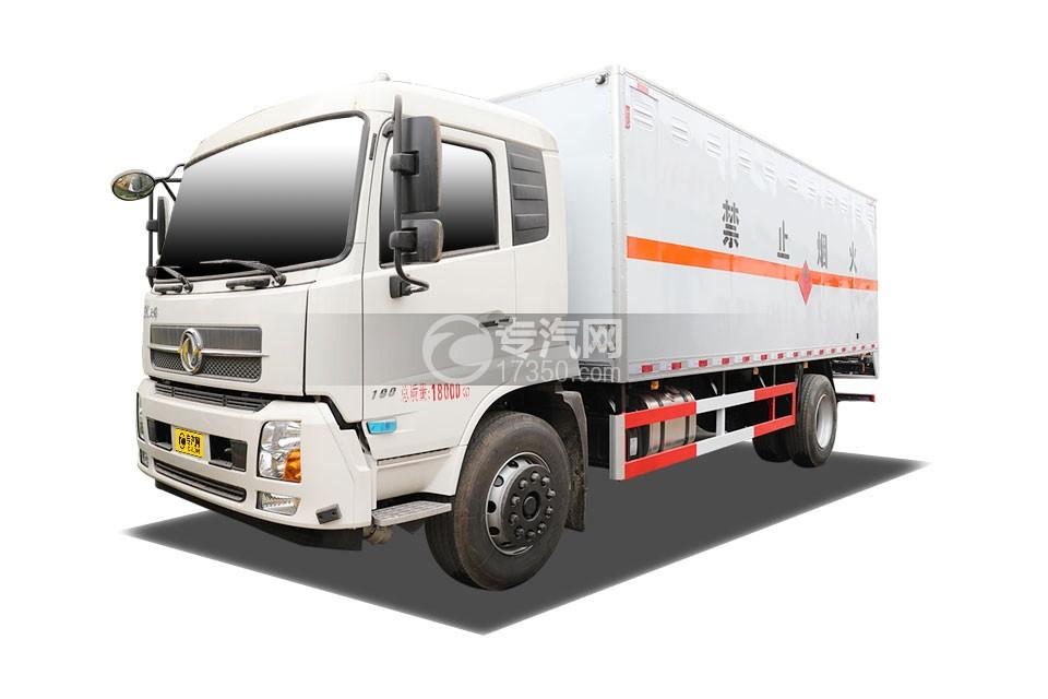 东风天锦国六6.6米易燃气体厢式运输车