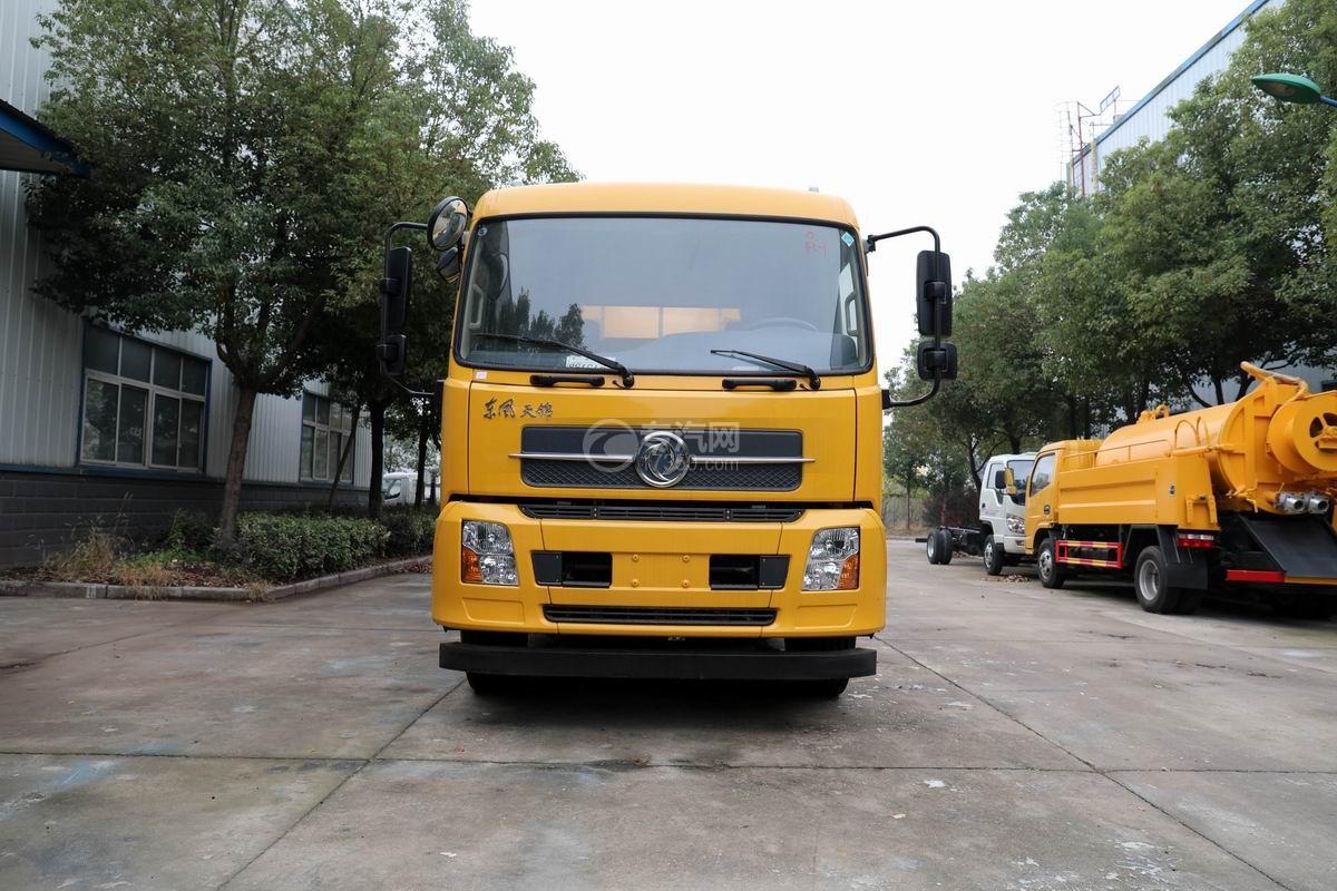 东风天锦国六13.6方清洗吸污车正前方位图