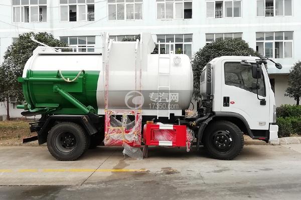 東風福瑞卡國六8方餐廚式垃圾車側面圖