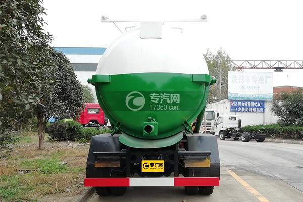 東風福瑞卡國六8方餐廚式垃圾車正后方圖