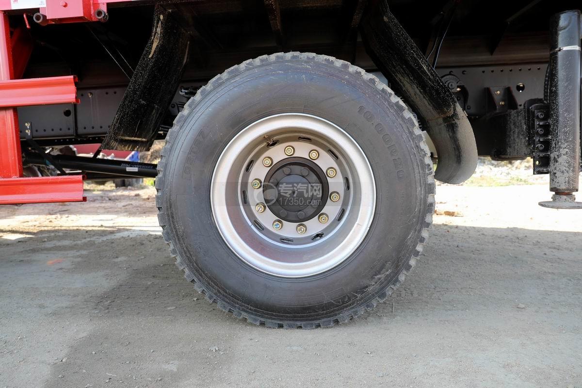 大運風景F6單橋6.3噸折臂隨車吊輪胎