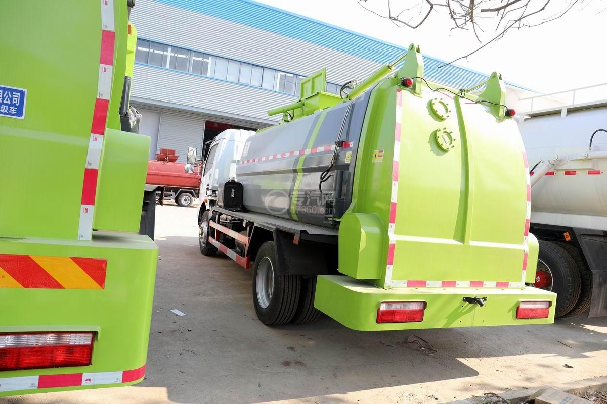 東風凱普特K7國六餐廚式垃圾車(廂式)側后方圖