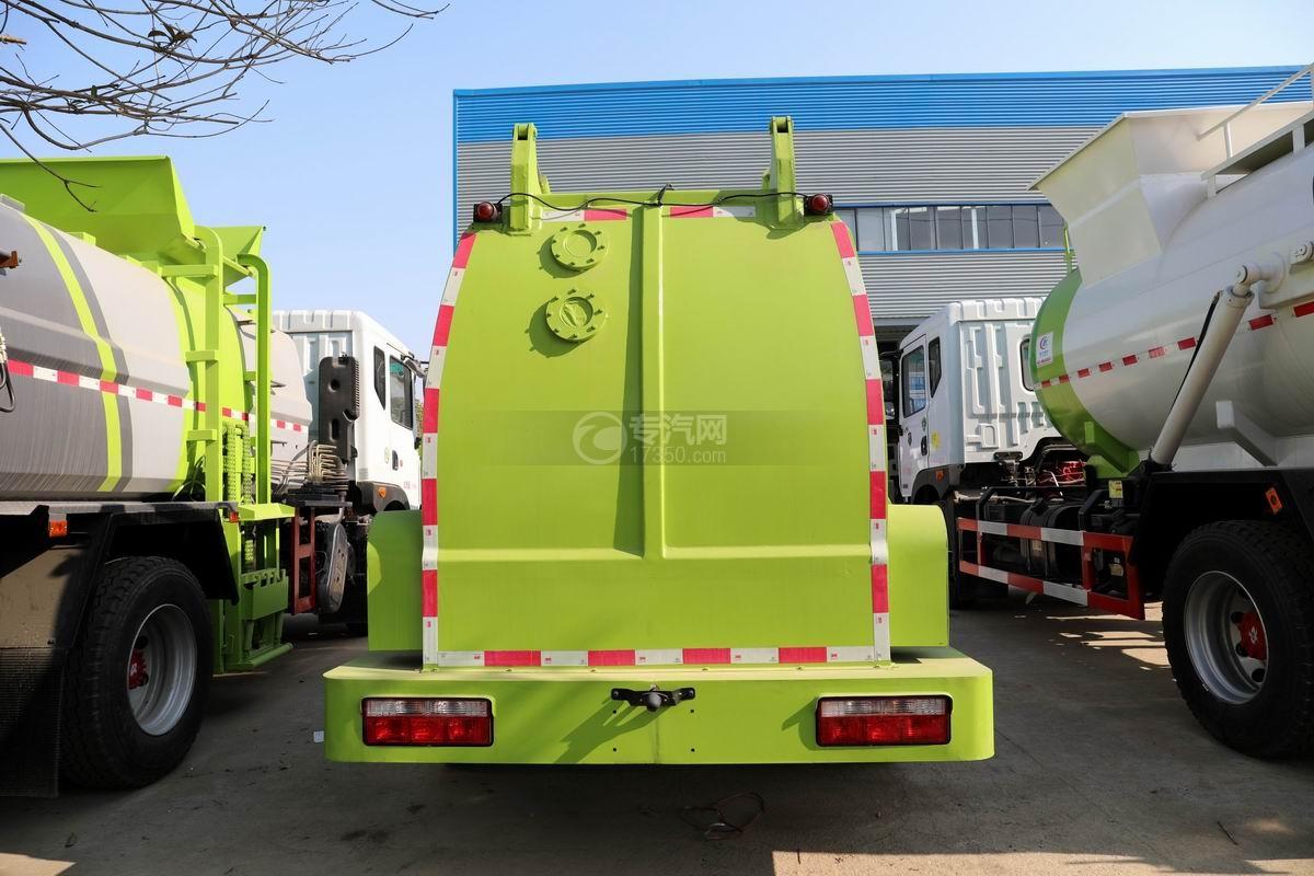 東風凱普特K7國六餐廚式垃圾車(廂式)正后方圖