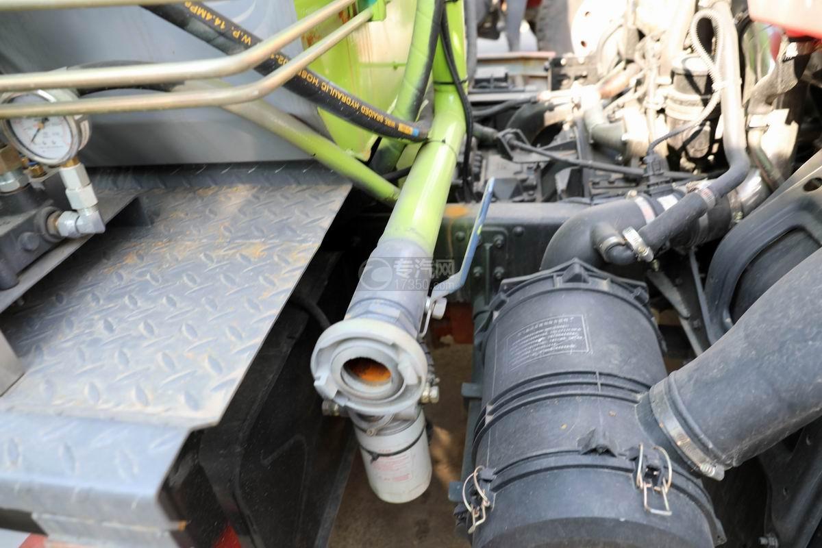 東風凱普特K7國六餐廚式垃圾車(廂式)水管接口