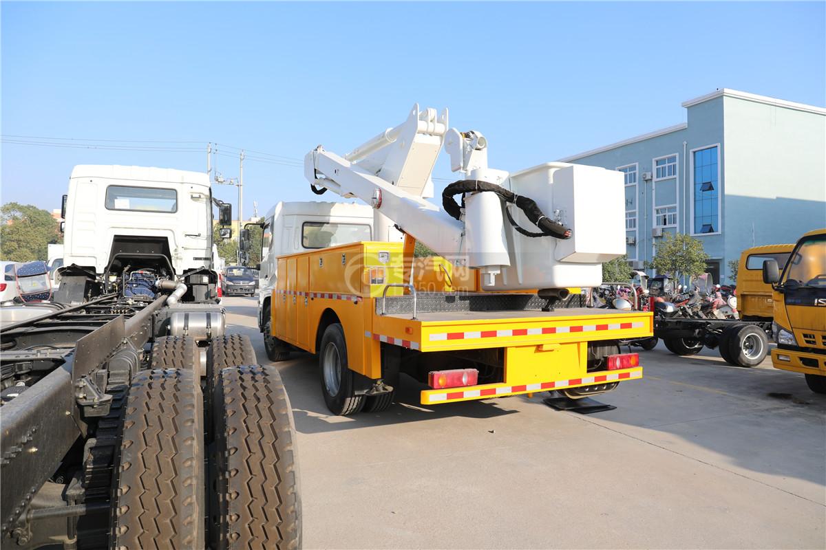 東風天錦國六20米直臂式高空作業車左后圖