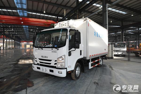 时尚新款 庆铃五十铃kv100国六4.1米冷藏车车型图片