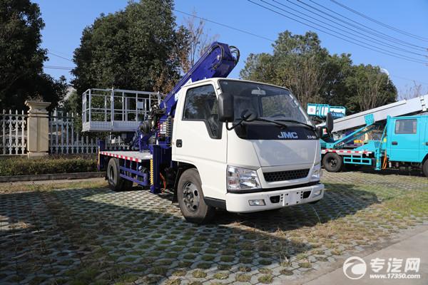 即可以載人,又可搬運貨物高空作業車你見過嗎?