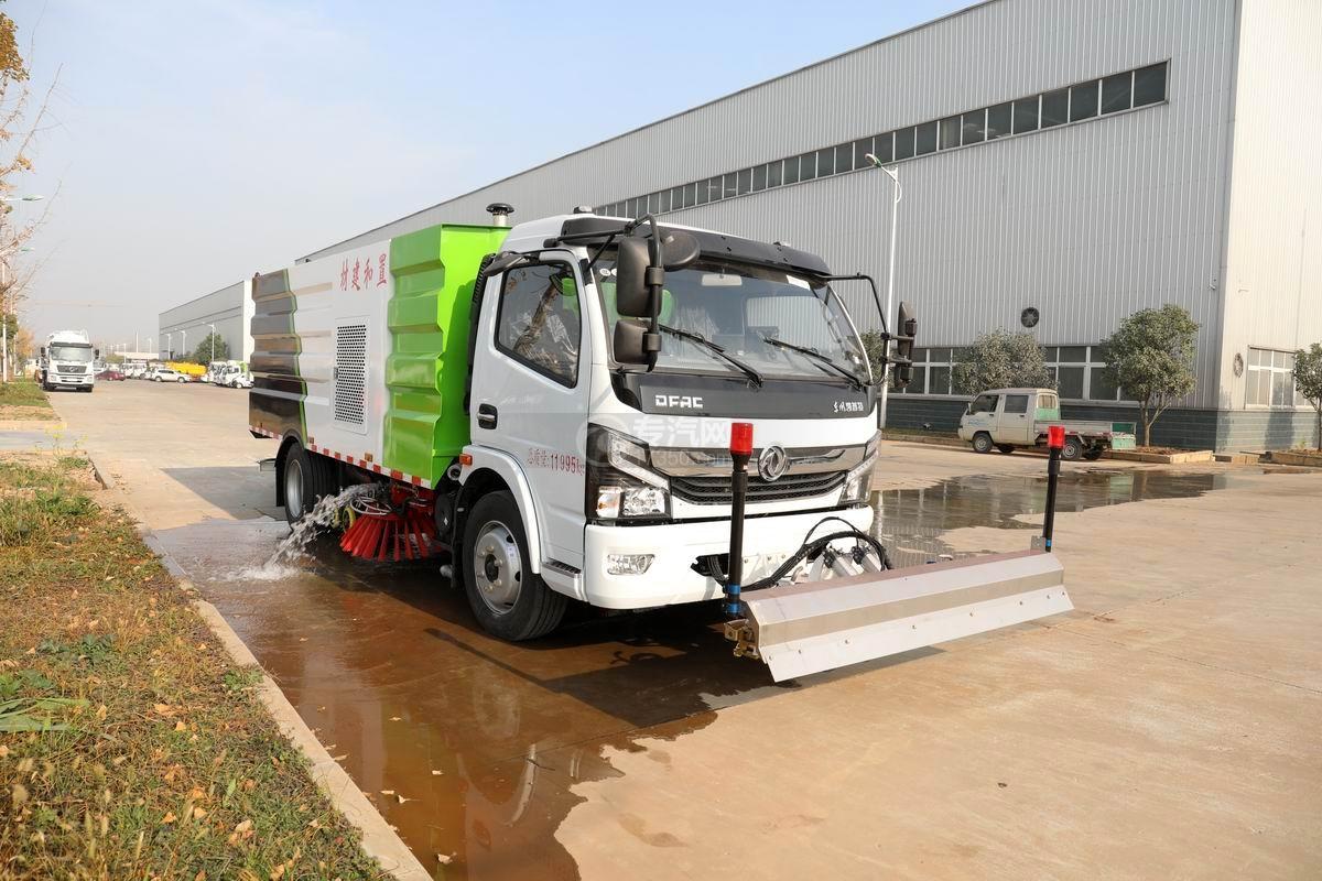 國六東風凱普特K7洗掃車帶路面清洗圖片