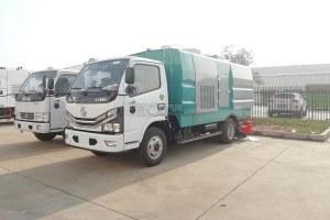 東風多利卡D6國六吸塵車帶掃刷圖片