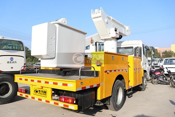 東風天錦國六20米直臂式高空作業車右后圖