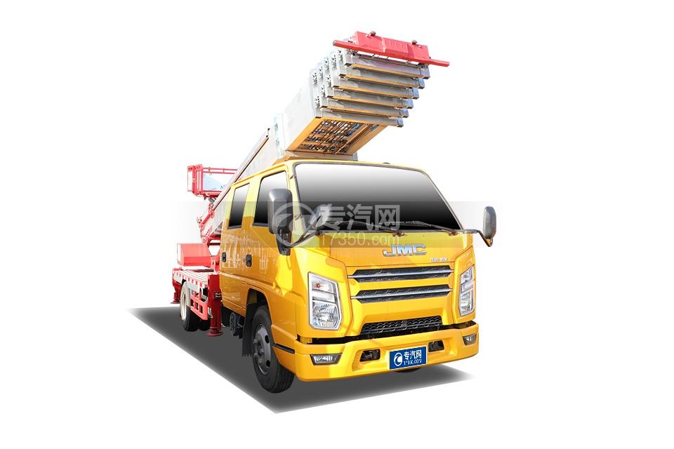 江鈴順達雙排國六32米云梯式搬家作業車
