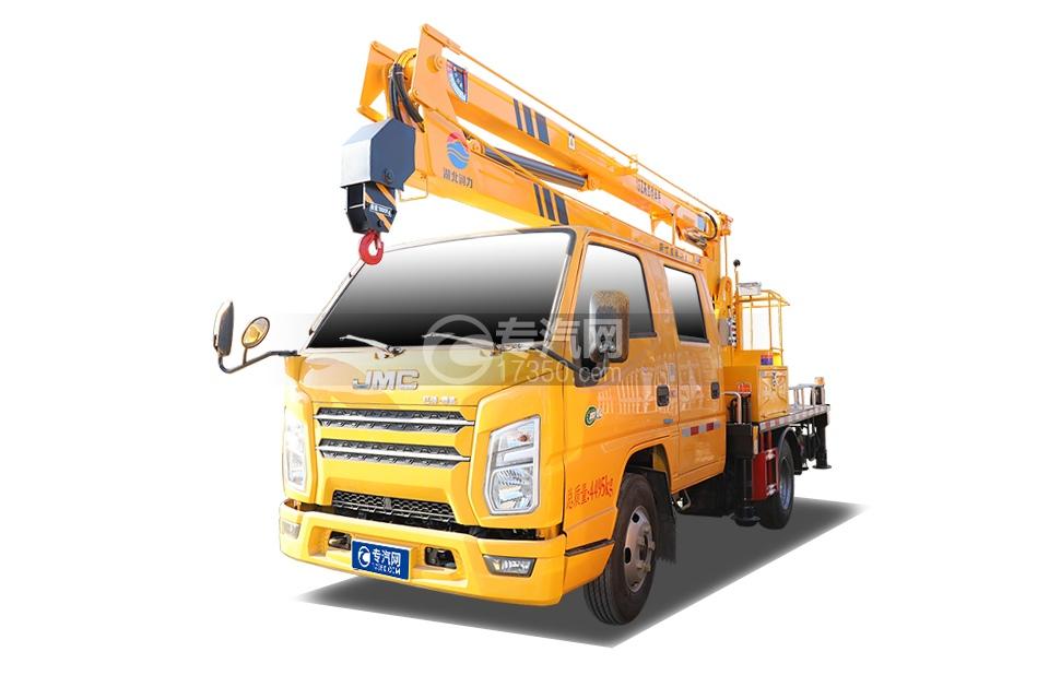江铃顺达双排国六14米折臂式高空作业车