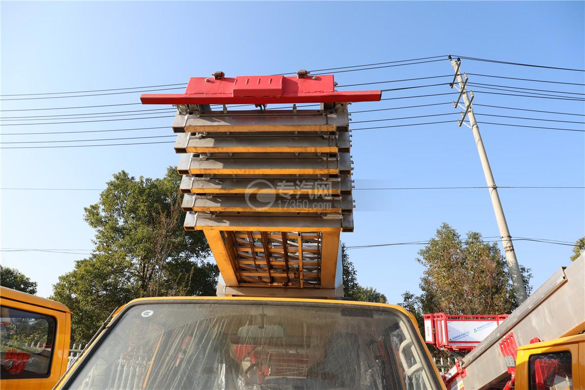 江鈴順達雙排國六32米云梯搬家作業車梯子