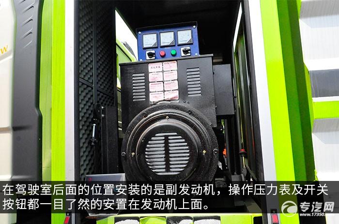 解放J6國六80米多功能抑塵車副發動機