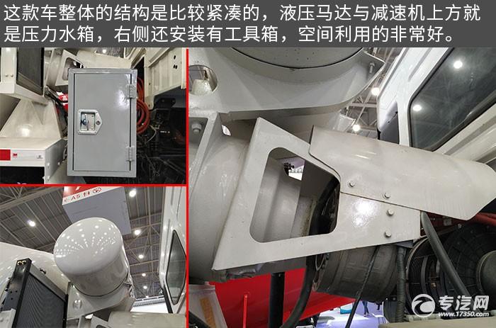 東風錦程前四后八攪拌車評測液壓馬達、水箱