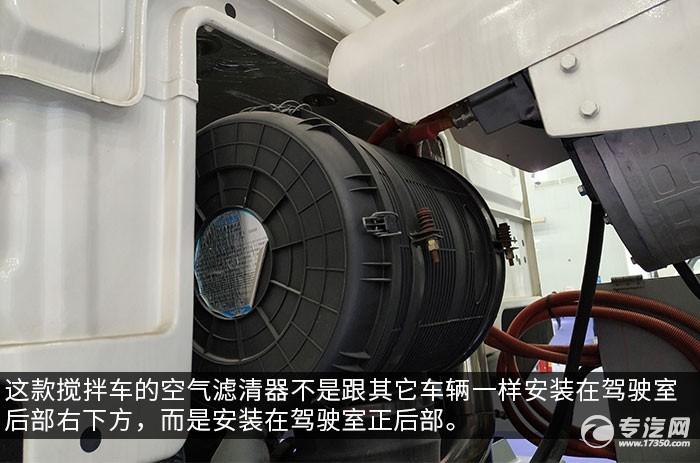 東風錦程前四后八攪拌車評測空氣濾清器