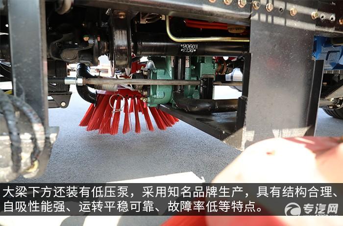 東風華神純電動洗掃車評測低壓泵