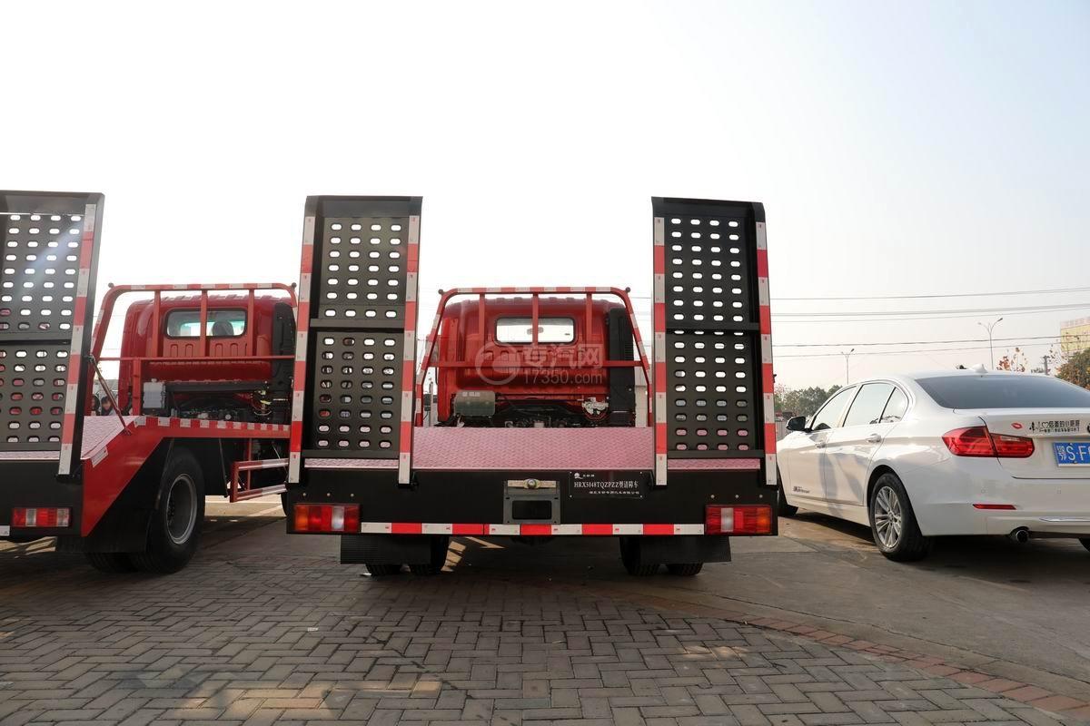 中國重汽藍牌清障平板車正后方圖
