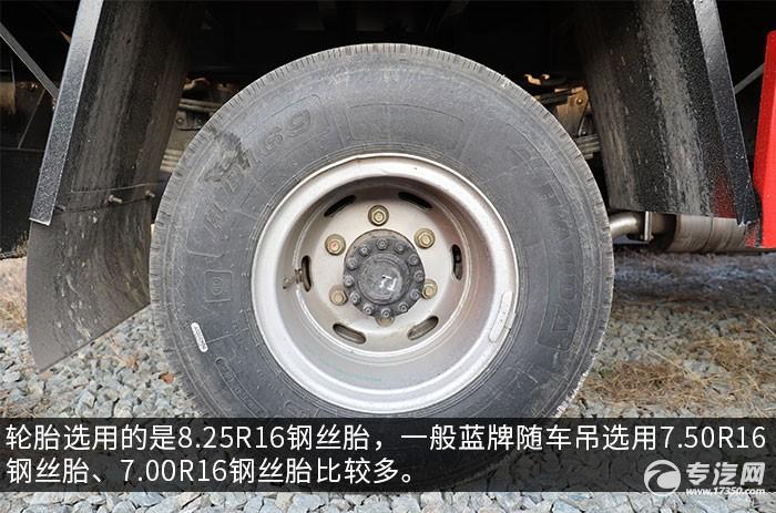南駿瑞吉5噸直臂隨車吊評測輪胎