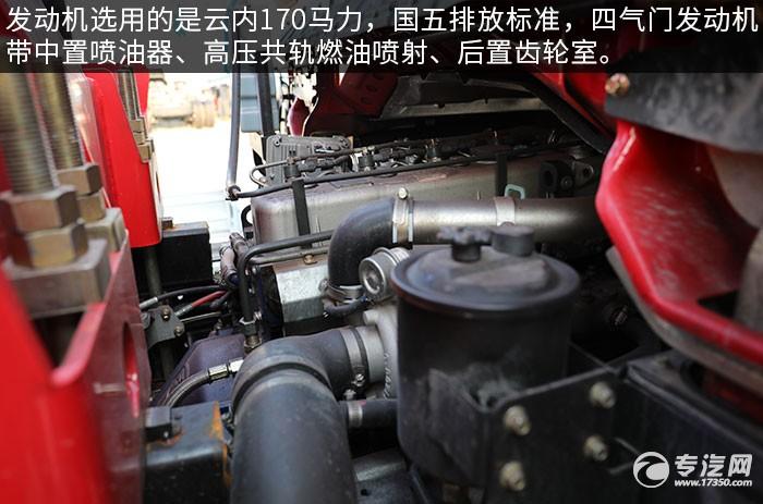 南駿瑞吉5噸直臂隨車吊評測發動機