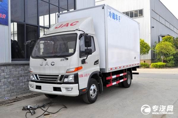 新品國六 江淮駿鈴V6冷藏車亮相