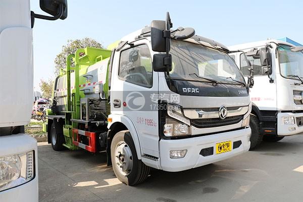 東風凱普特K7國六餐廚式垃圾車(廂式)右前45度圖