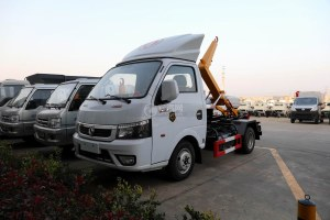 東風途逸國六車廂可卸式垃圾車圖片