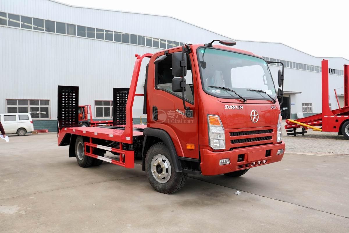 大运奥普力蓝牌3.3米轴距平板运输车(已停售)