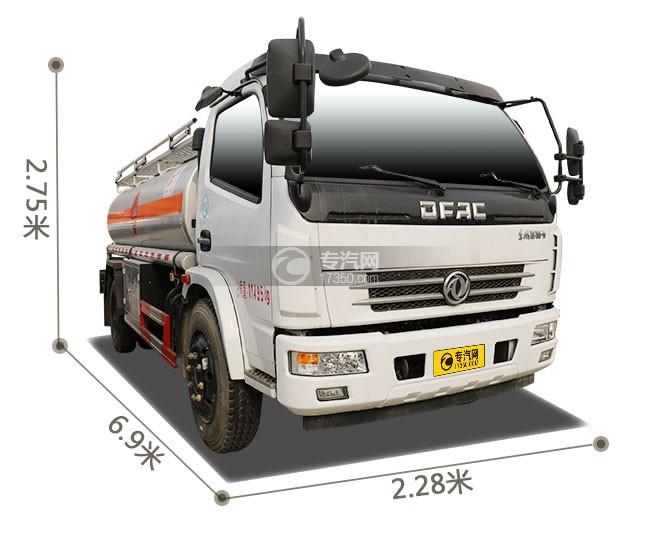 东风大多利卡7.6方加油车外观尺寸图