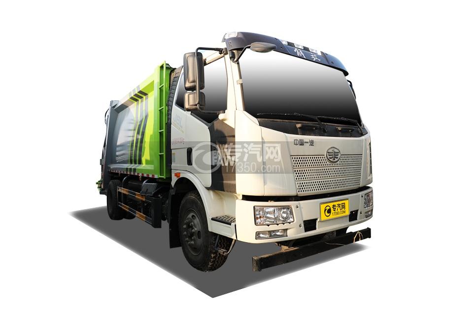国六解放J6L压缩式垃圾车