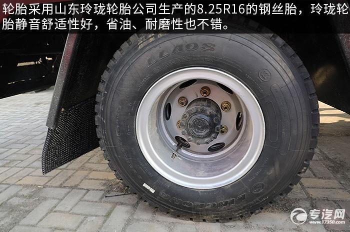 解放虎VH蓝牌清障平板车评测轮胎