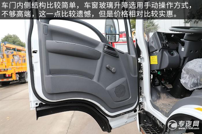 慶鈴五十鈴KV600一拖二清障車評測車門