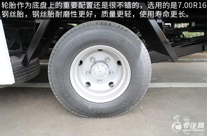 慶鈴五十鈴KV600一拖二清障車評測輪胎