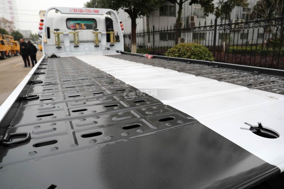 五十铃KV600一拖二清障车板材细节