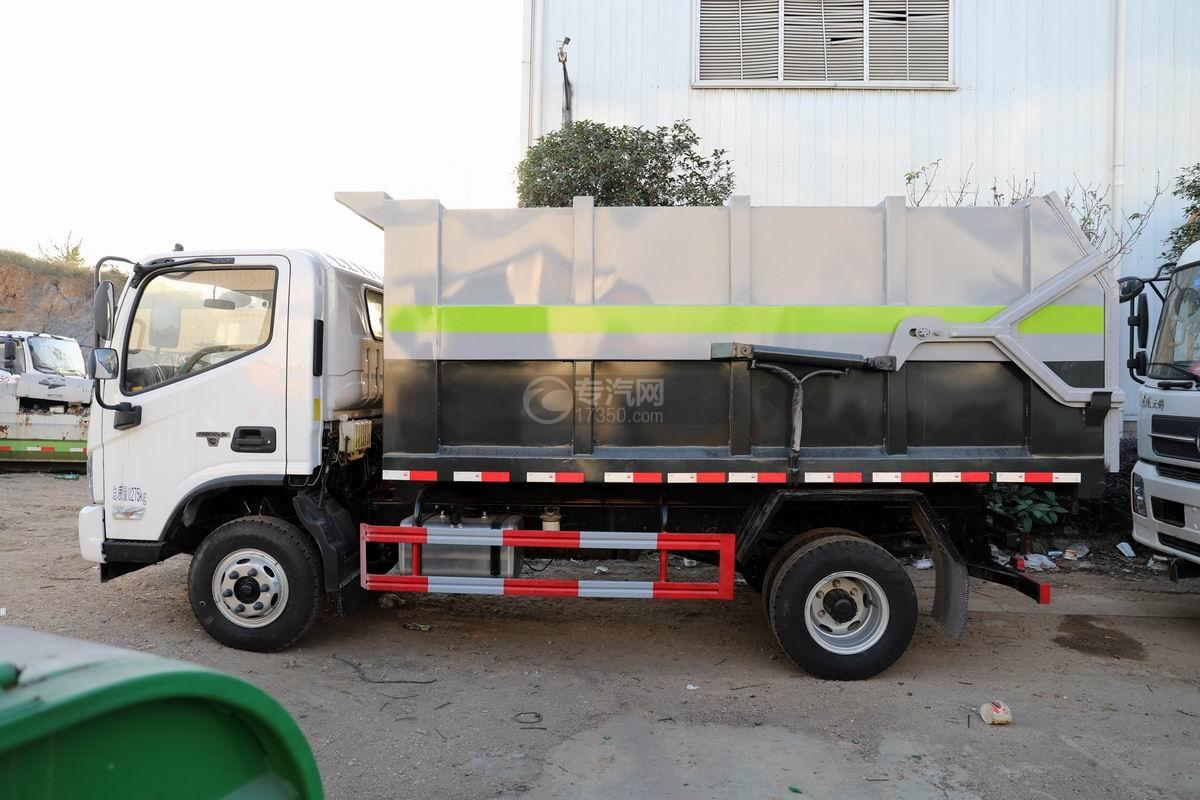 福田欧马可S3国六对接式垃圾车正侧图
