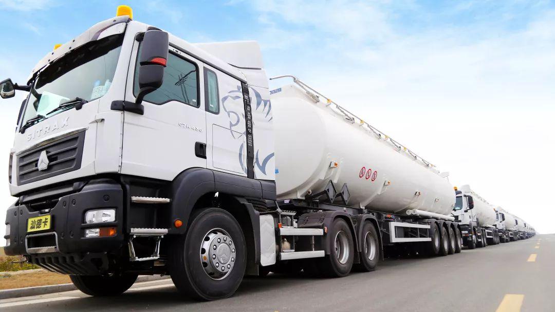 中集通华碳钢油罐车发往非洲