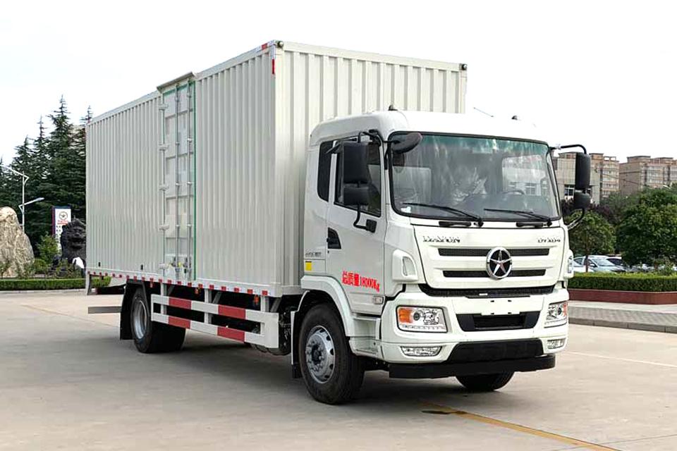 大运N6单桥国六7.65米厢式货车