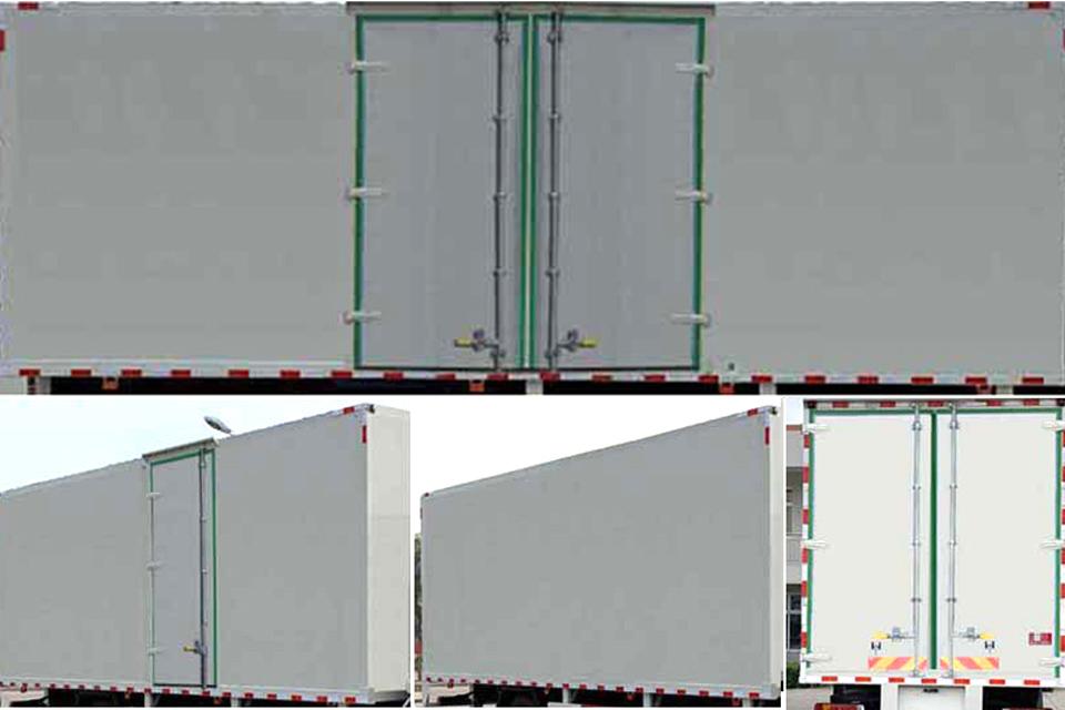 大运N6单桥国六7.65米厢式货车货箱细节