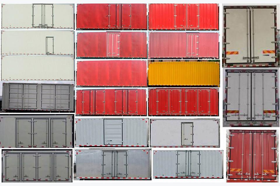 陕汽轩德X6单桥国六7.75米厢式货车货箱细节