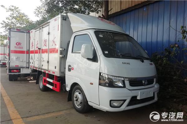 东风途逸T5G国六3米杂项危险物品厢式运输车右前图