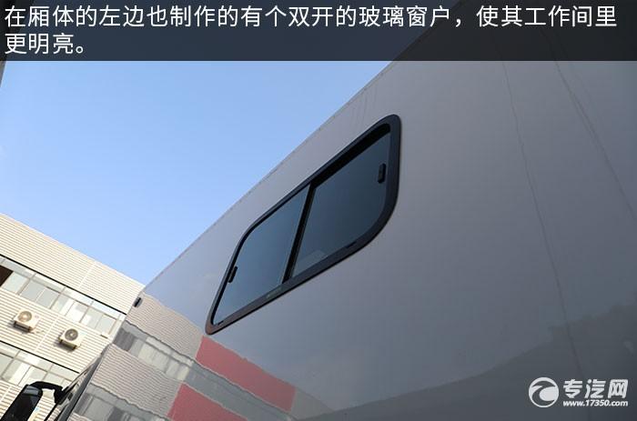 东风天龙KL后双桥国六餐车琉璃窗户