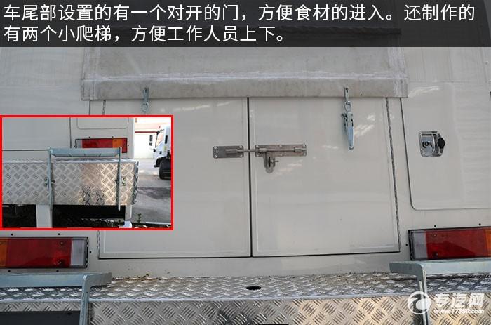 东风天龙KL后双桥国六餐车后门