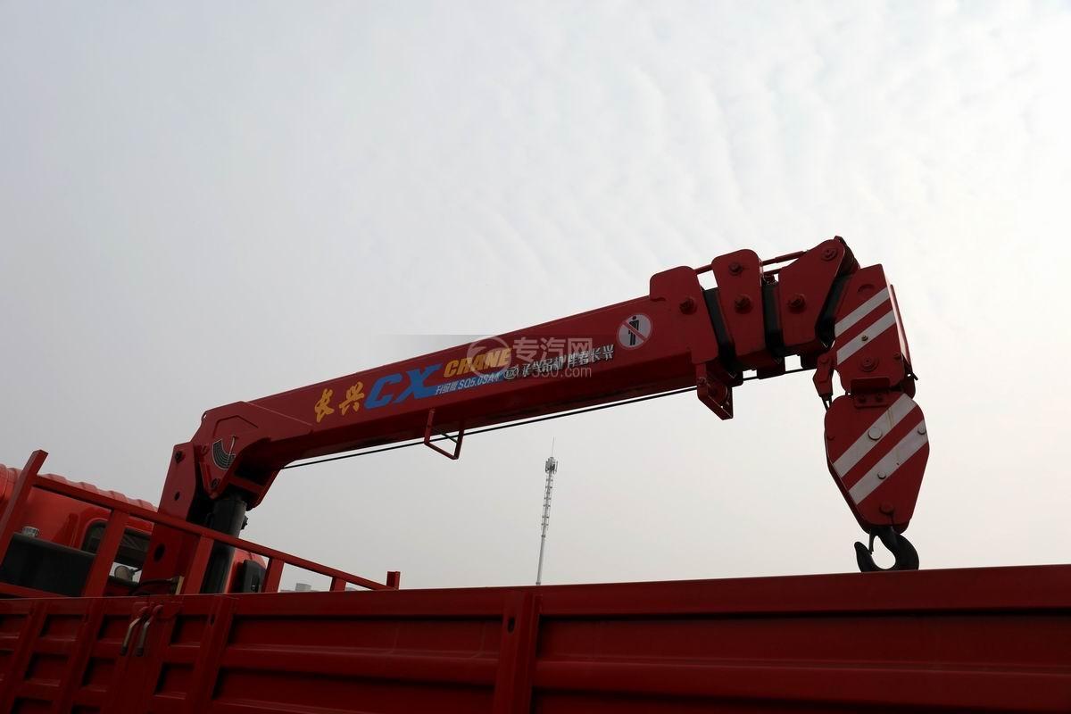 湖北大运运途单桥5吨直臂随车吊长兴吊机