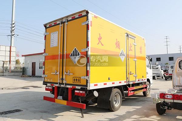 東風小多利卡D6國六雜項危險物品廂式運輸車右后圖