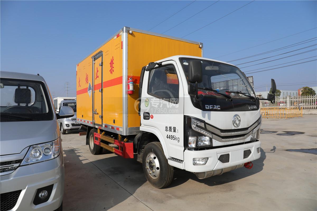 東風小多利卡D6國六雜項危險物品廂式運輸車右前圖