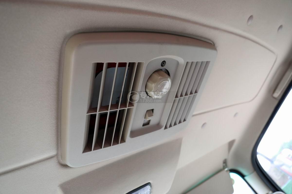 大運奧普力3.9米排半平板運輸車透氣窗